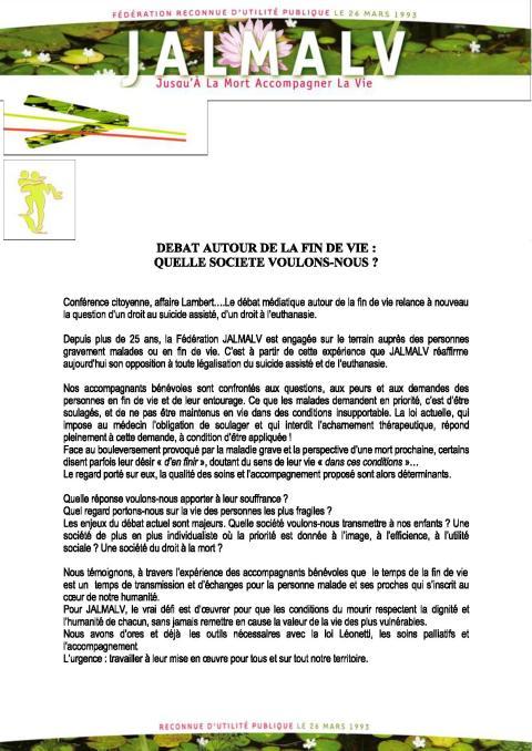 JALMAL_2014_02_DEBAT AUTOUR DE LA FIN DE VIE