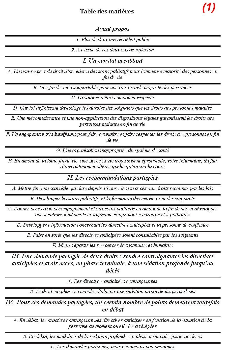 Rapport du comit consultatif national d ethique ccne sur le d bat public concernant la fin de vie