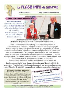 FLASH INFO N°9 AVRIL 2015