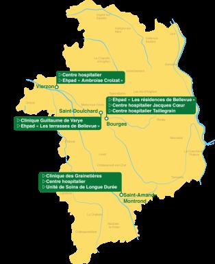 Carte des lieux de présence de Jamavie
